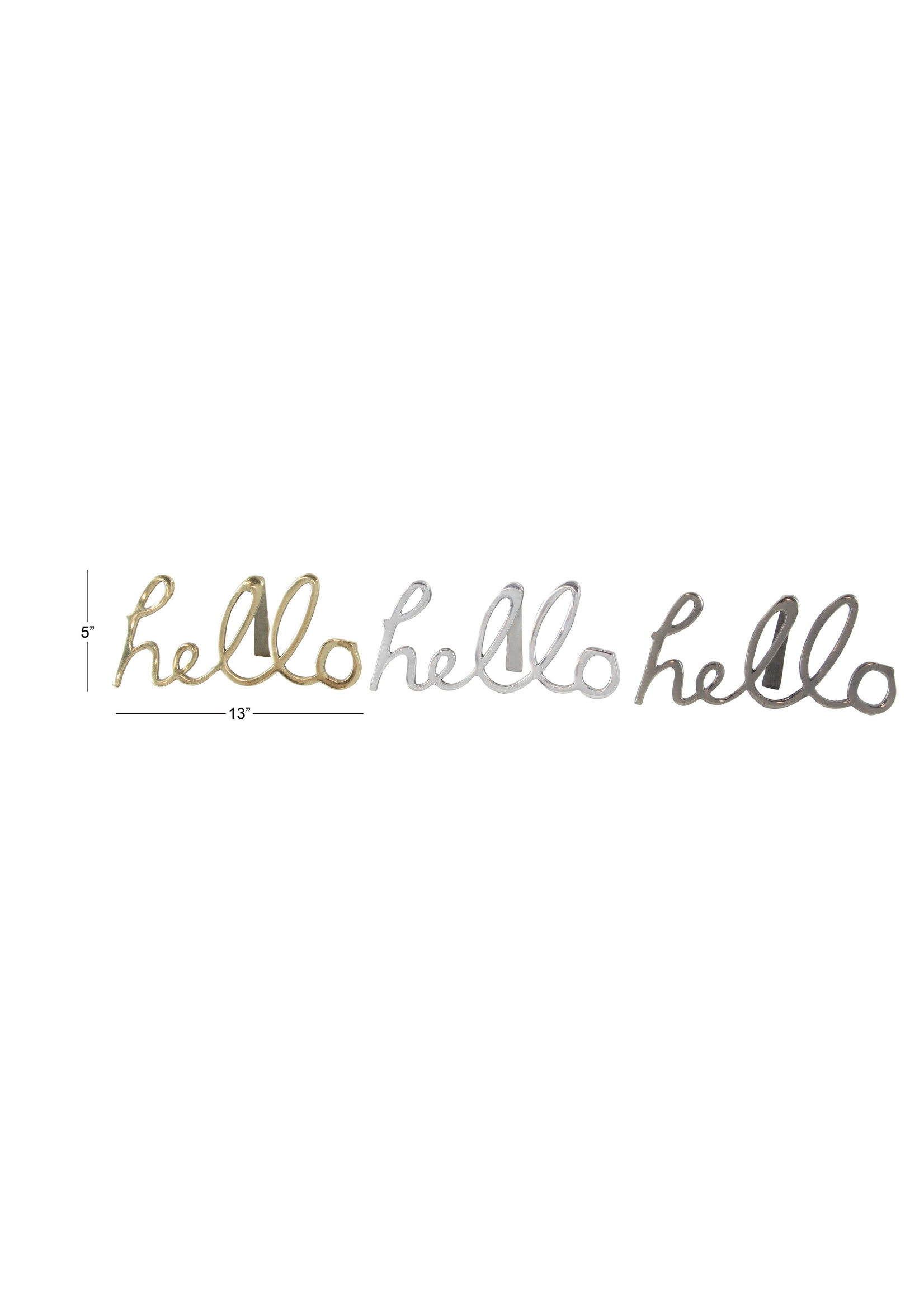UMA Enterprises Aluminum 'Hello' Sign - Silver