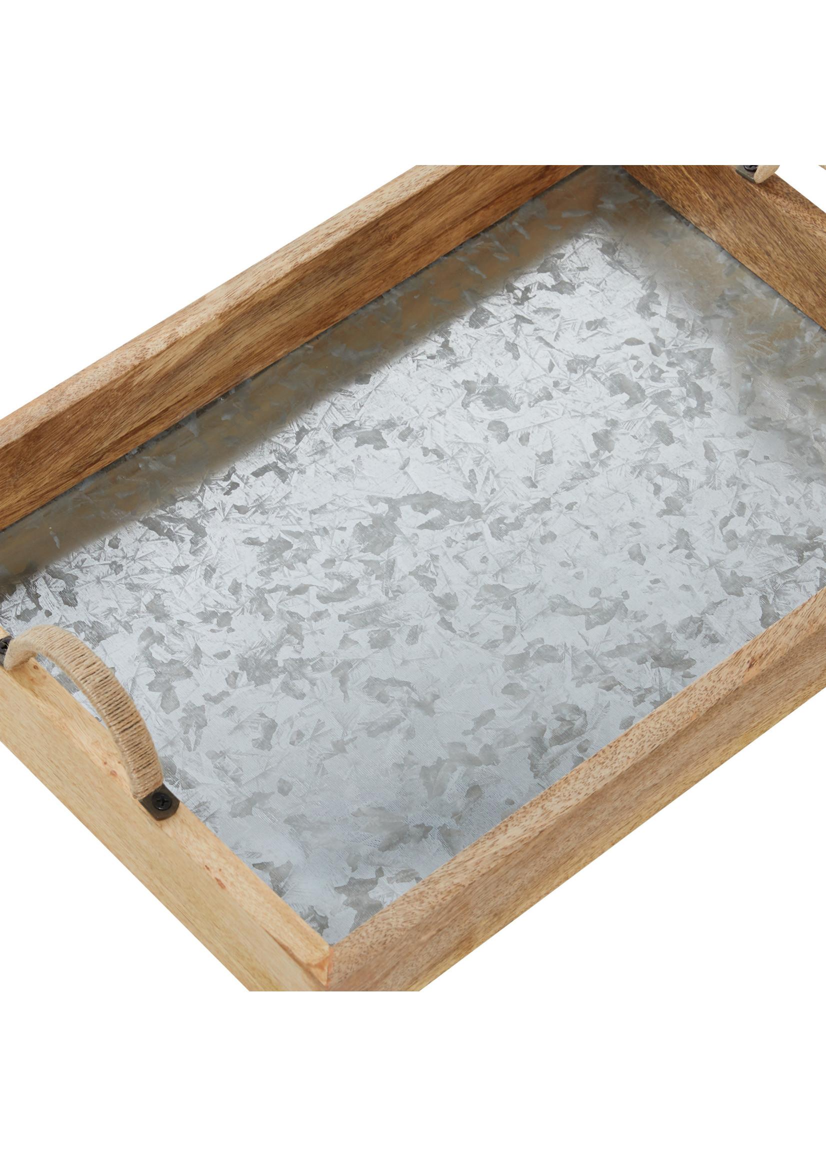 UMA Enterprises Wood Metal Tray - Large