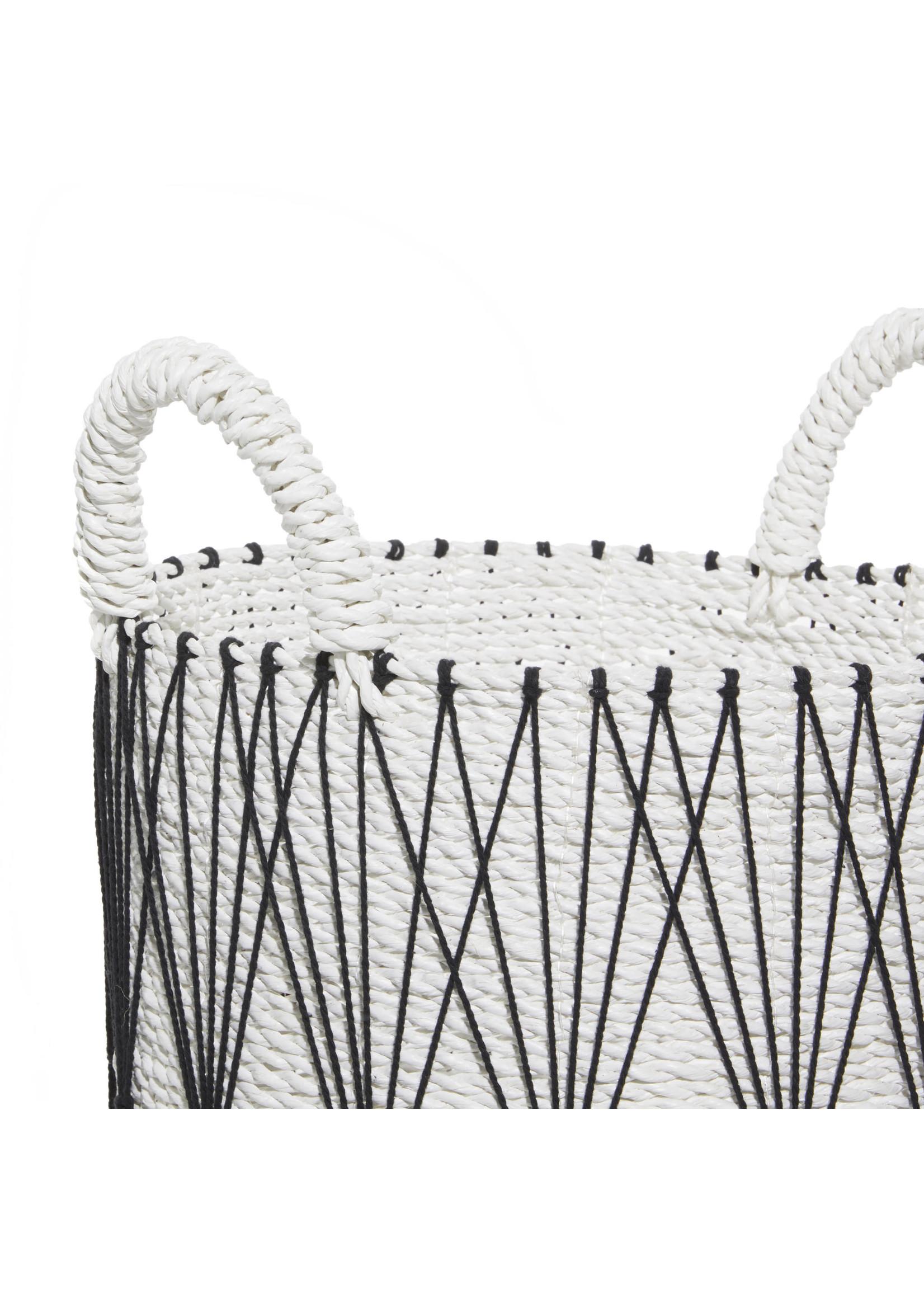 UMA Enterprises Black & White Cotton Basket - Large