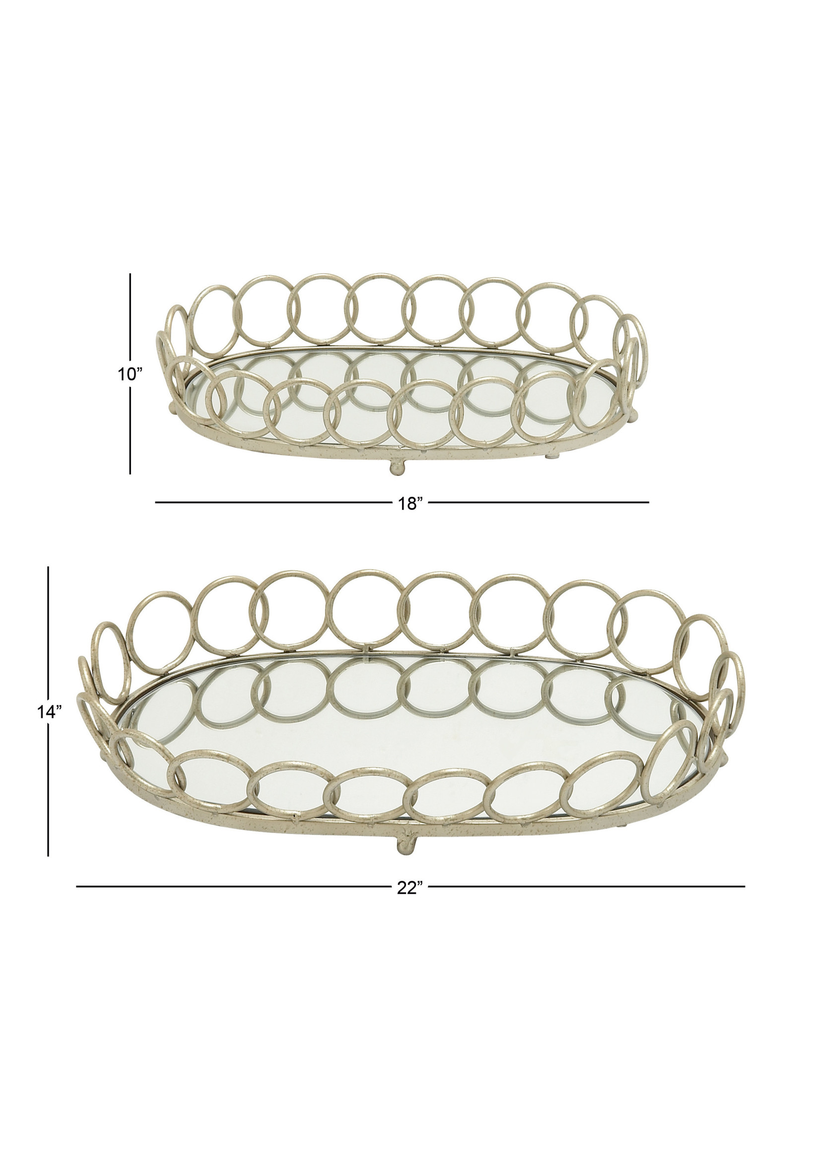 UMA Enterprises Metal Glass Tray - Small