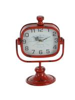 UMA Enterprises Metal Clock - Red