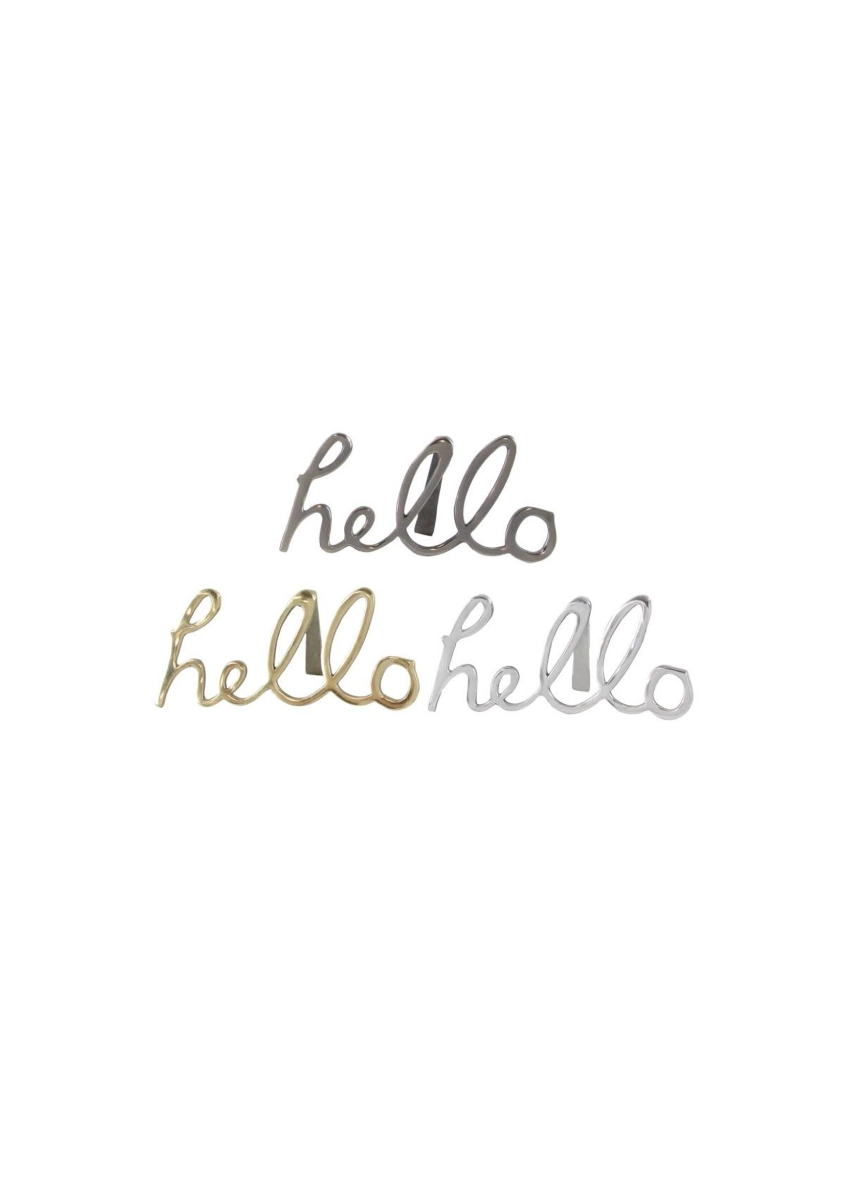 UMA Enterprises Aluminum 'Hello' Sign - Brushed Nickle