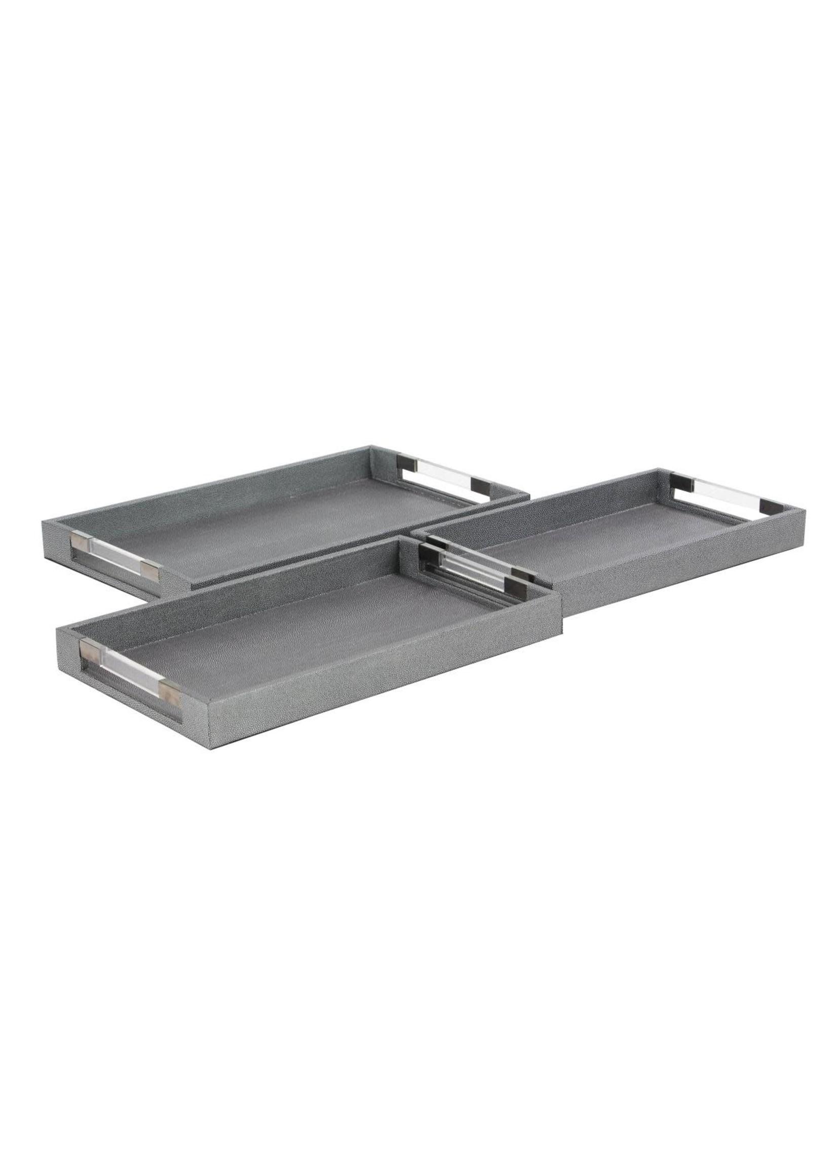 UMA Enterprises Wood Acrylic Tray - Medium