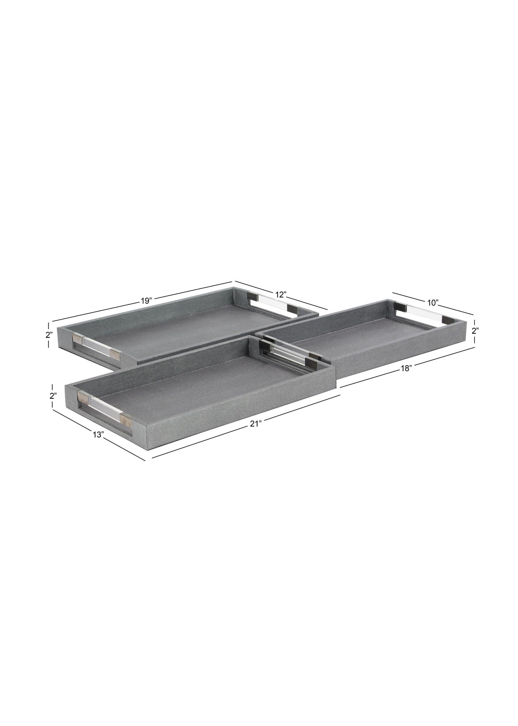 UMA Enterprises Wood Acrylic Tray - Small