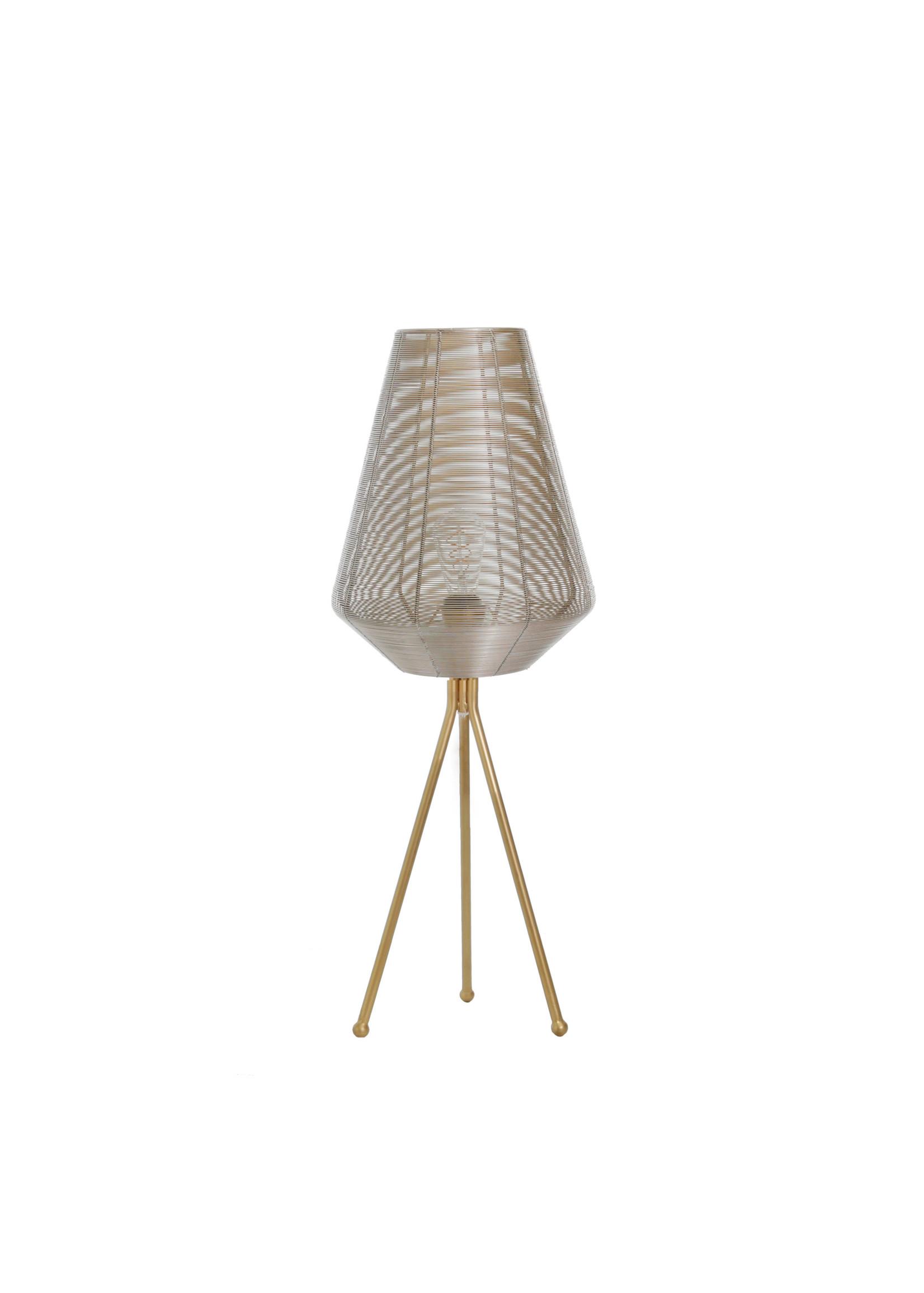 "Sagebrook Home SBH Metal Table Lamp Gold 29"""