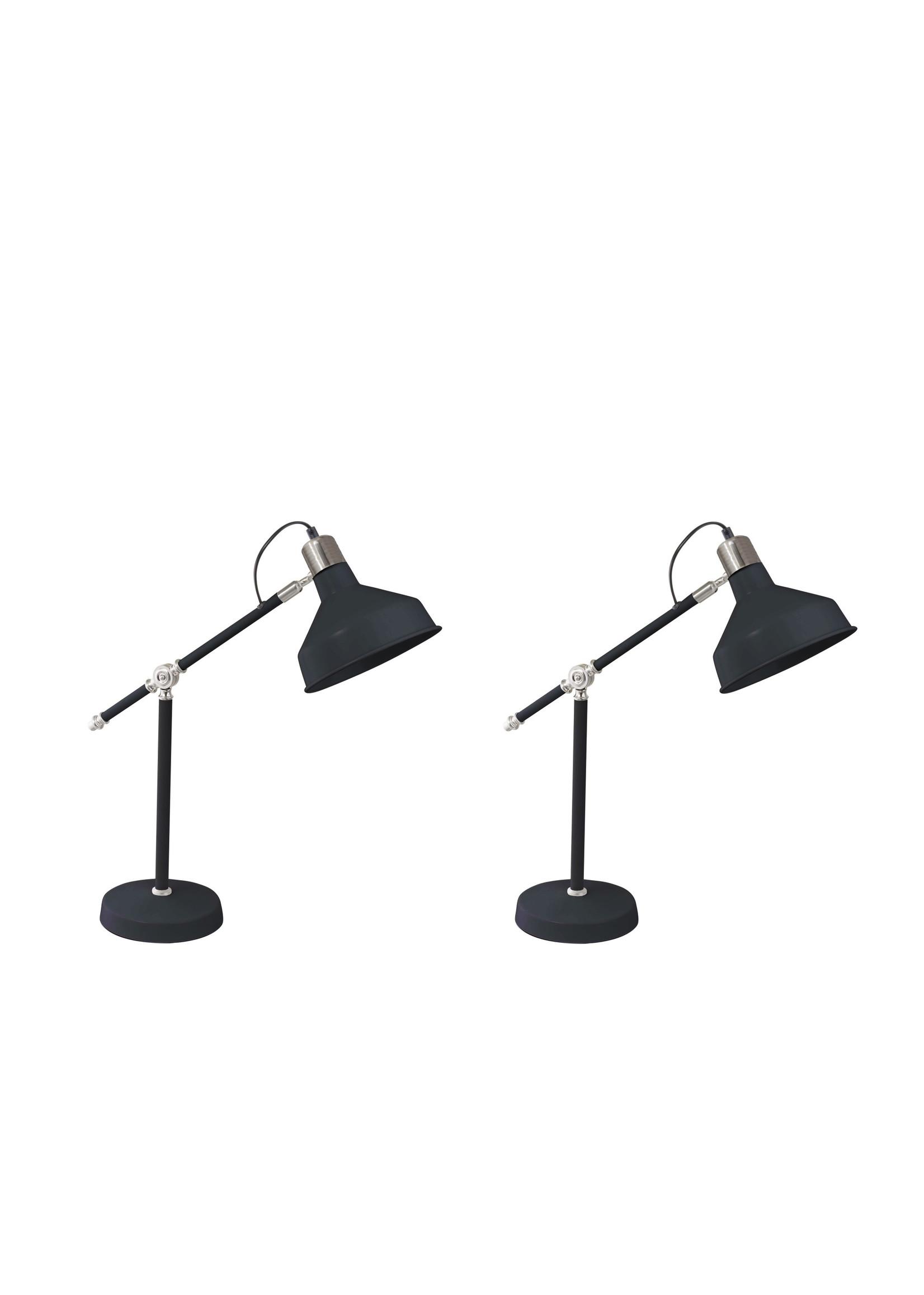 "Sagebrook Home Metal 20"" Dome Shade Task Lamp Black"