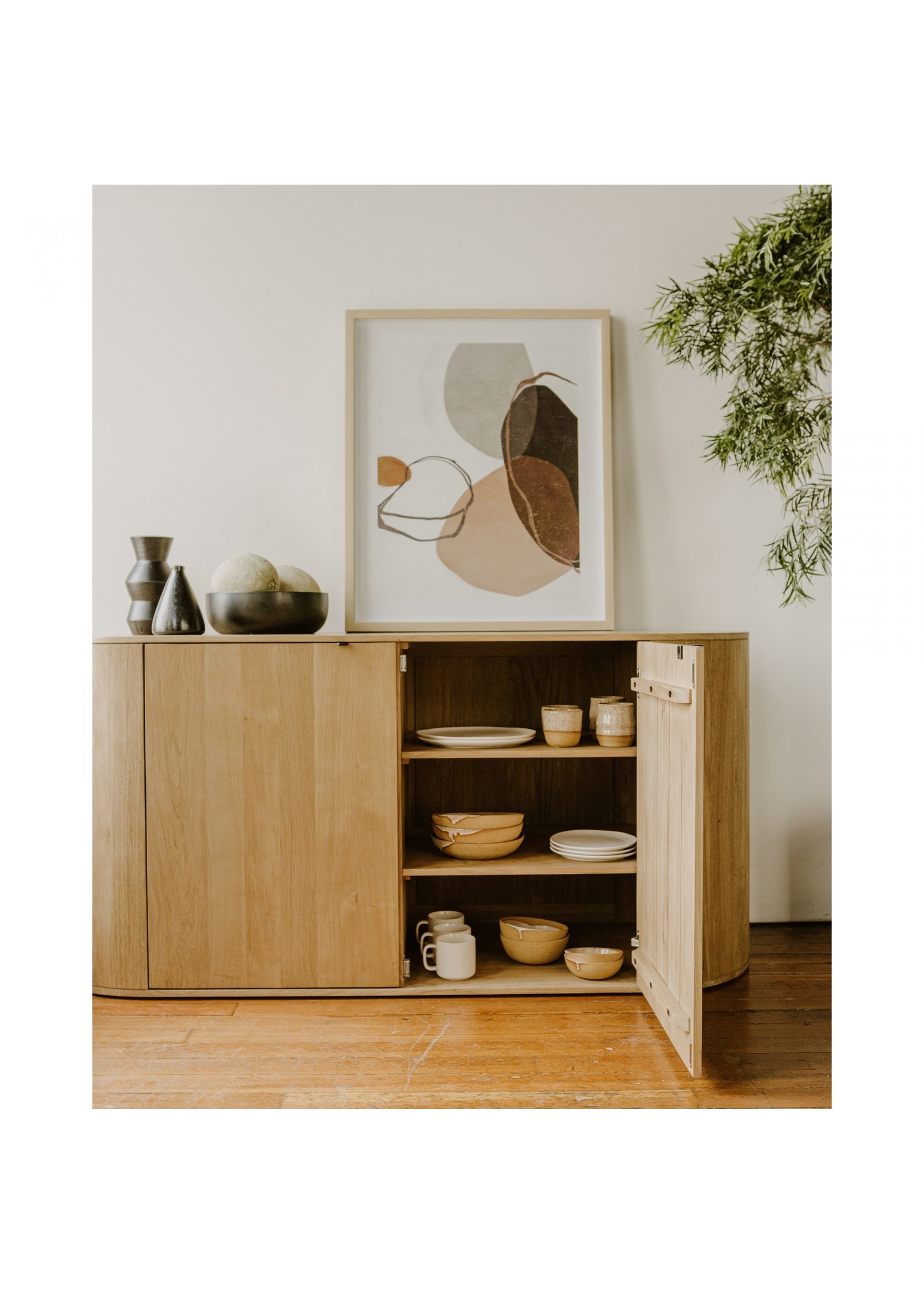 Moes Home Collection Peaceful Abstract Print by MOES
