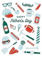 Design Design Father's Day Icons Card - Fathers Day