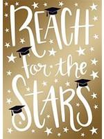Design Design Gold Reach For The Stars Card - Grad