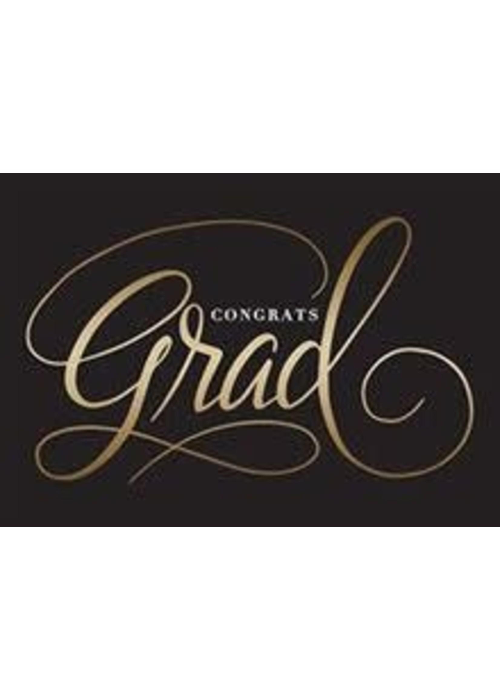 Design Design Black Background Gold Grad Card