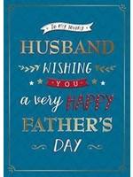 Design Design Blue Husband Declaration Card - Fathers Day