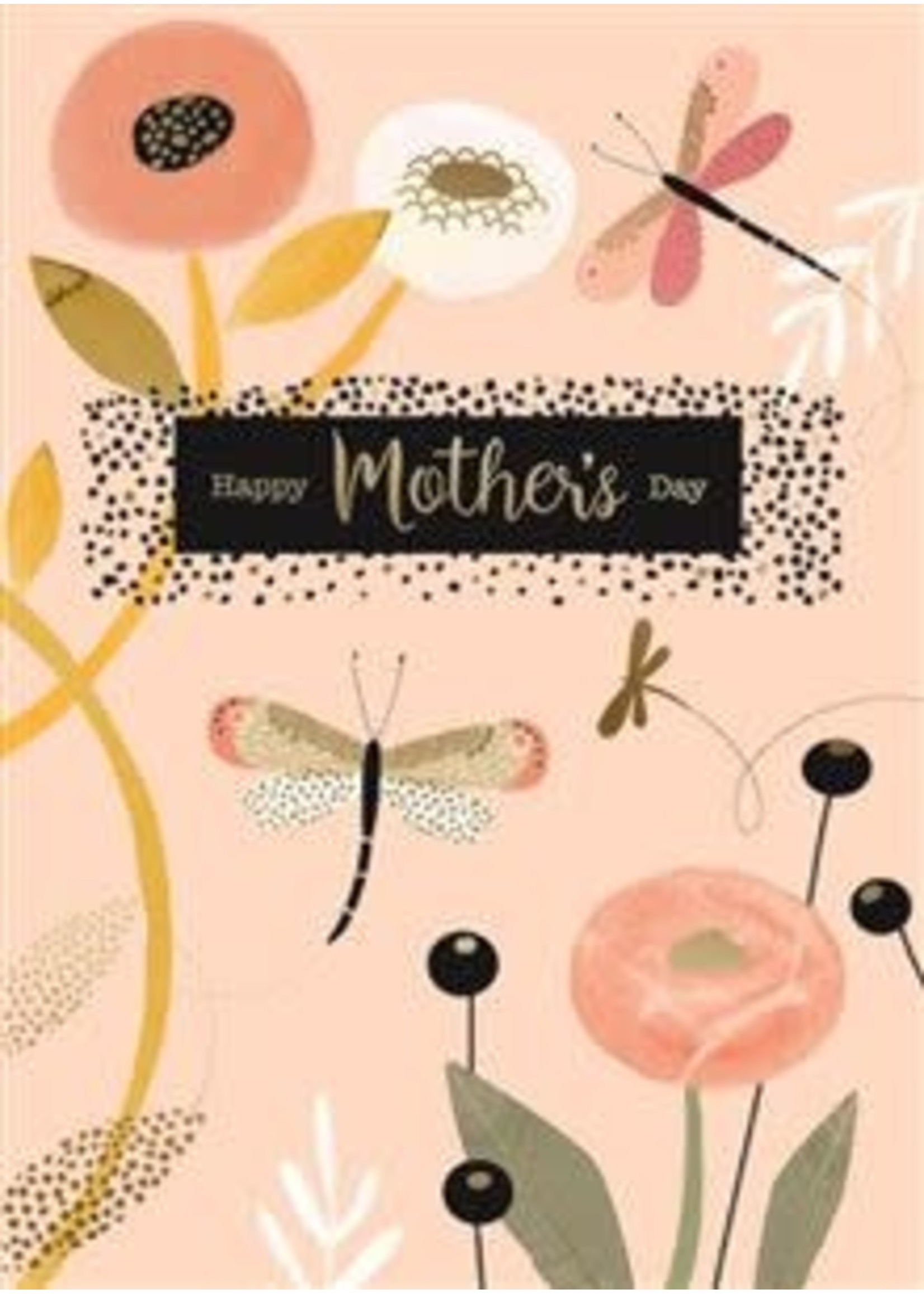 Design Design Dragonflies and Flowers Card - Mothers Day