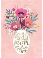 Design Design Wonderful Mom Floral And Vase Card - Mothers Day