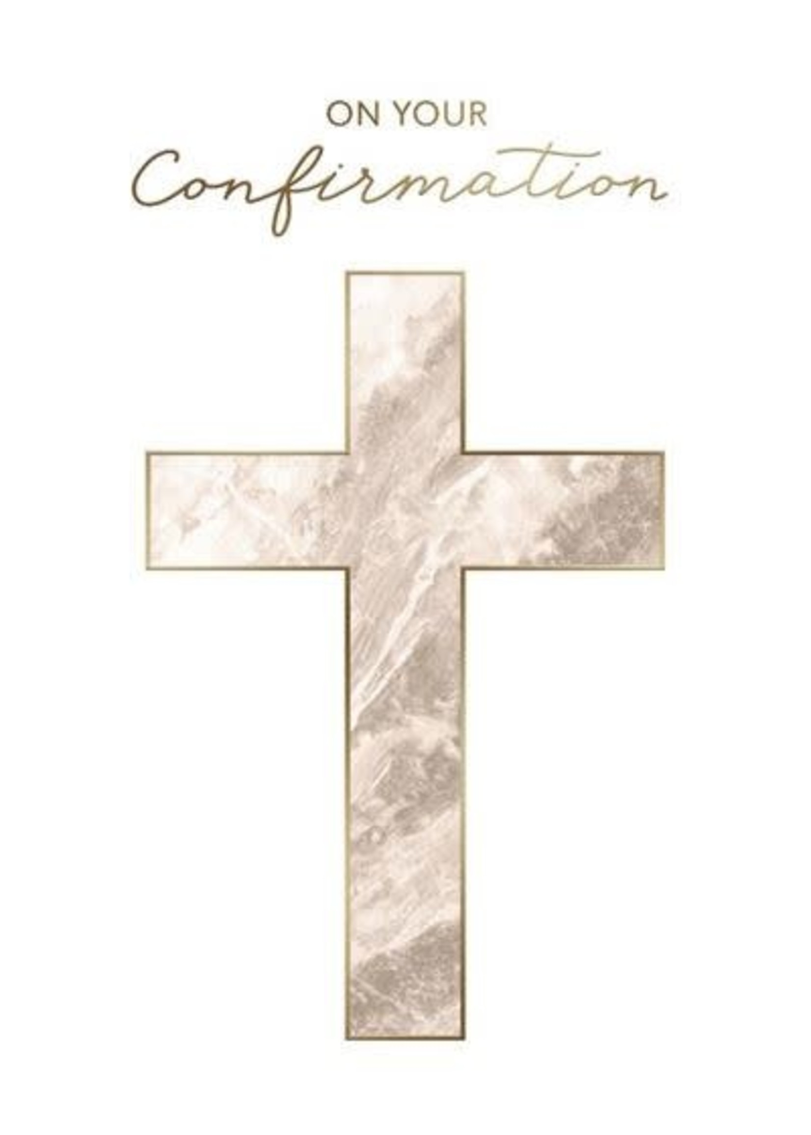 Design Design Marble Cross Confirmation Card