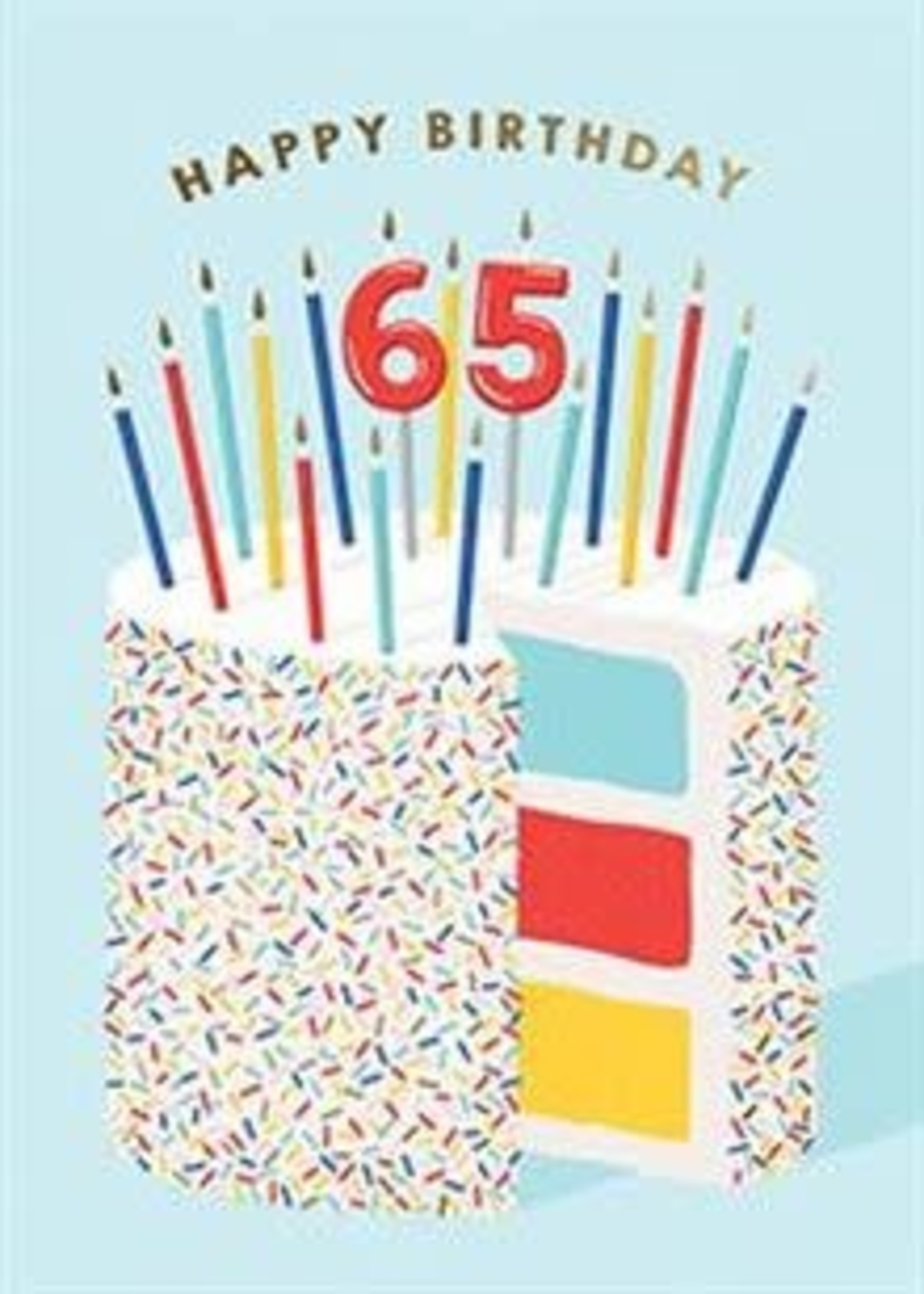 Design Design 65 Cake Card - Birthday