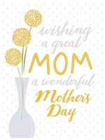 Design Design Cheery Great Mom Card - Mothers Day