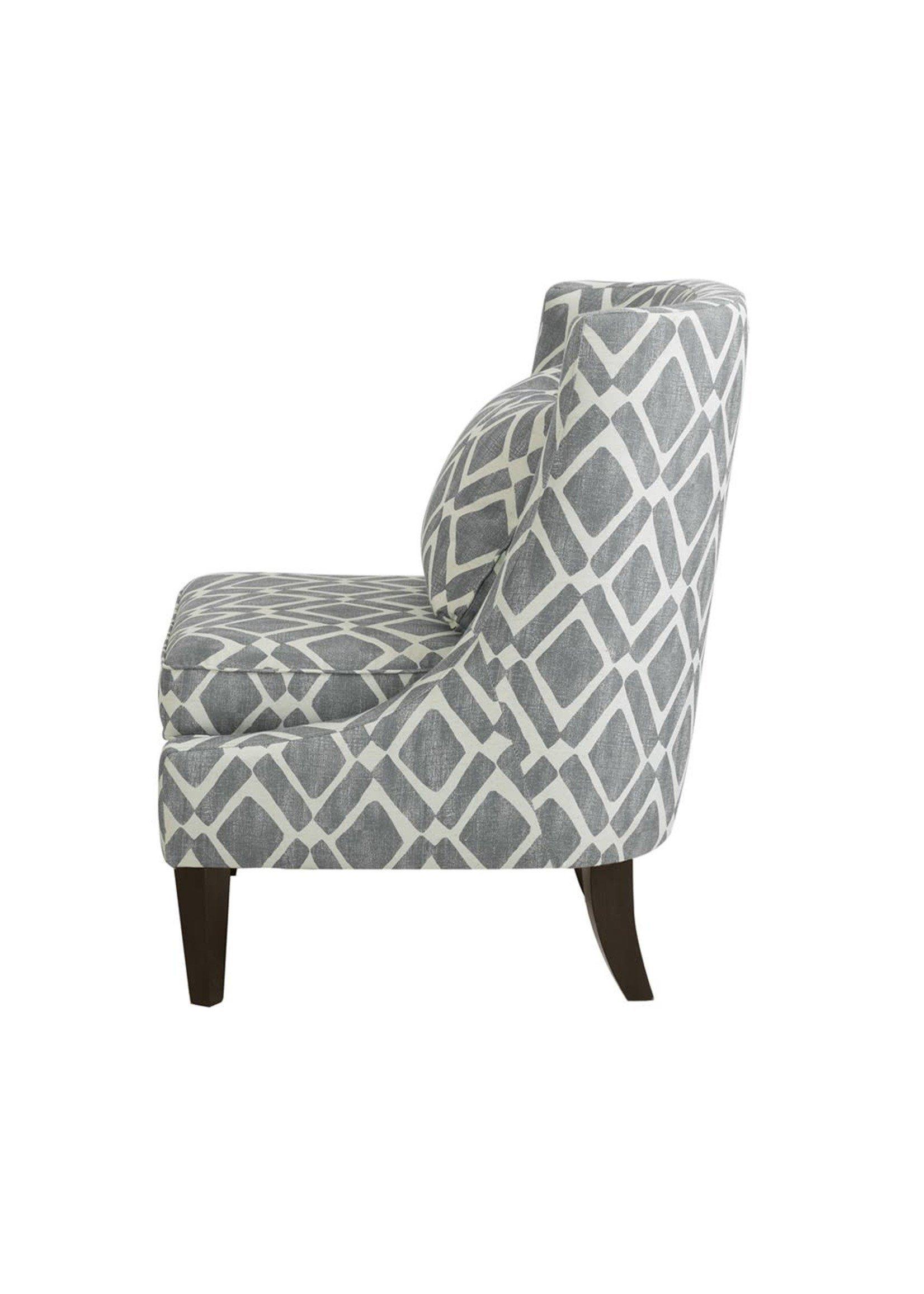 Olliix Waverly Swoop Arm Chair Grey