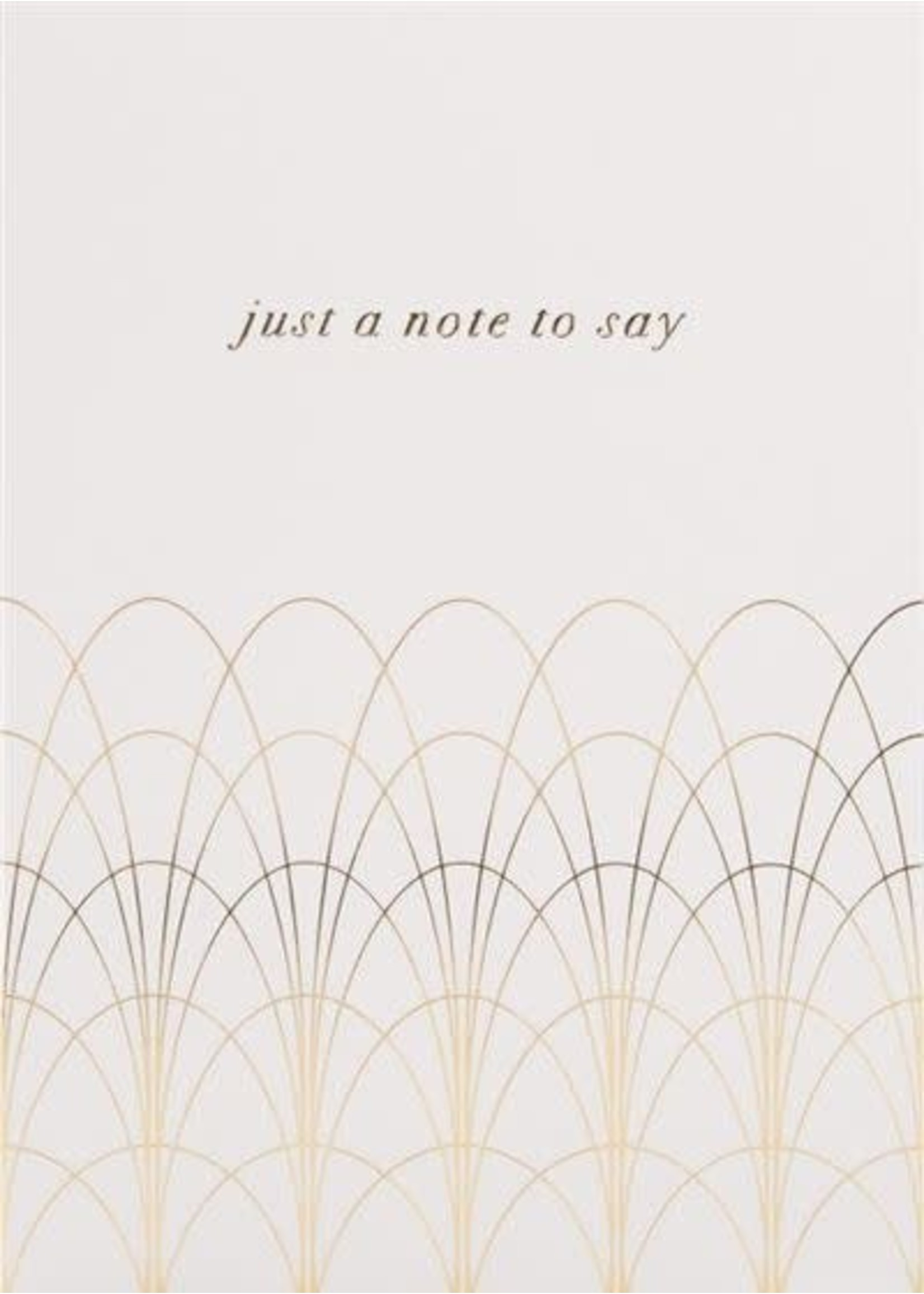 Design Design Note To Say Ornate Card - Think of You