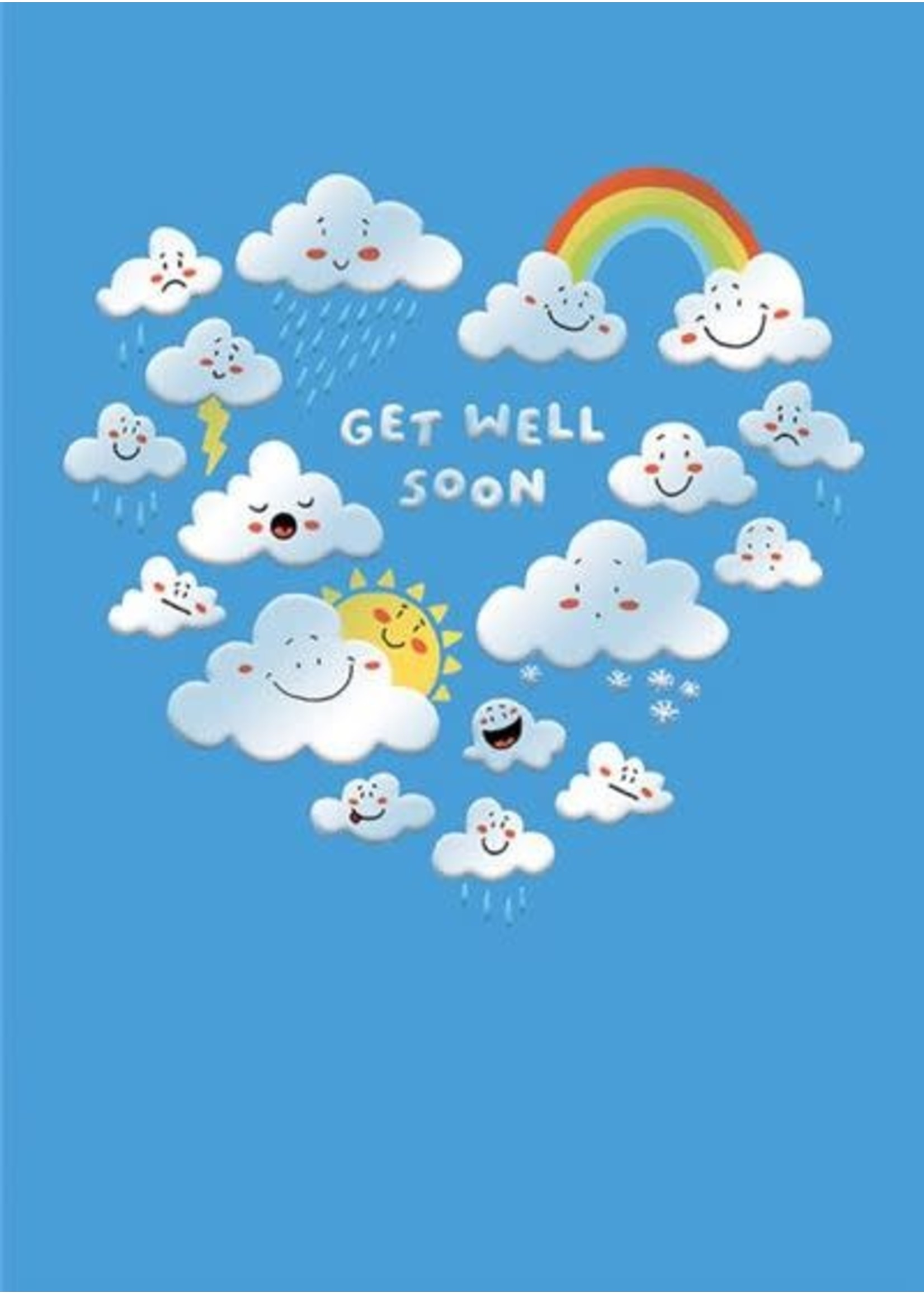 Design Design Get Well Clouds Card - From Us