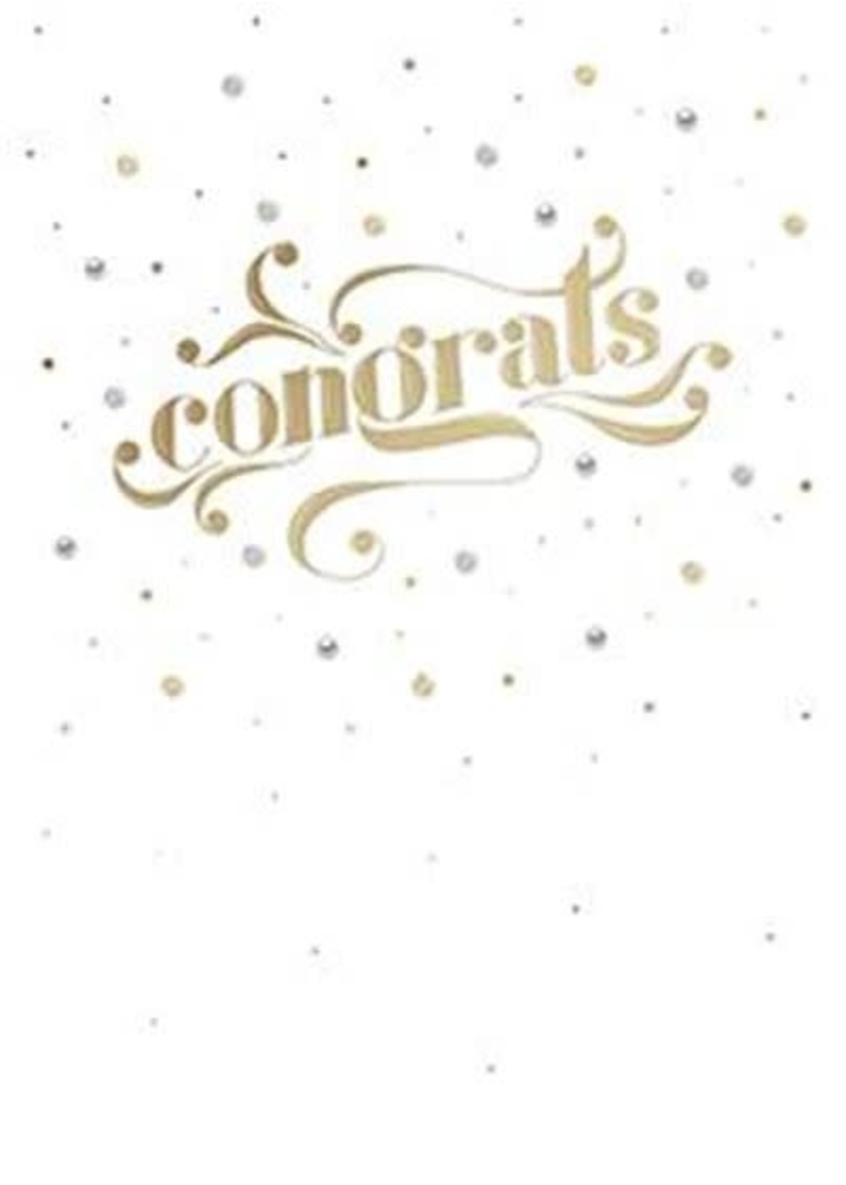 Design Design Typographical Congrats Burst Card