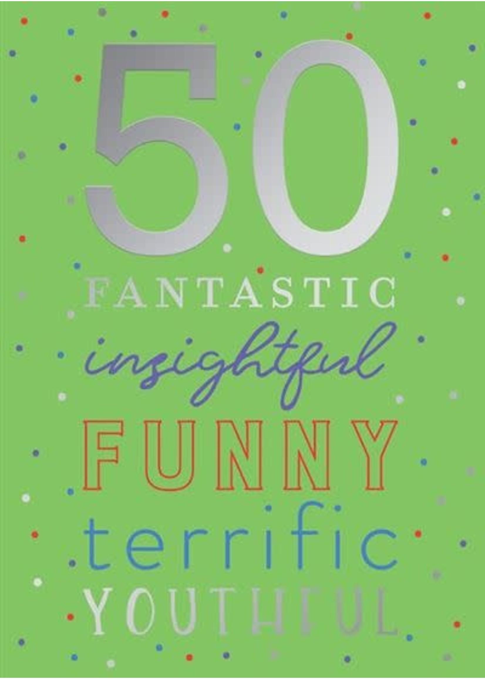 Design Design 50 Acronym Card - Birthday