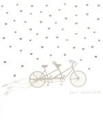 Design Design Just Married Tandem Bike Card - Wedding