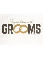 Design Design Grooms Two Rings Card - Same Sex