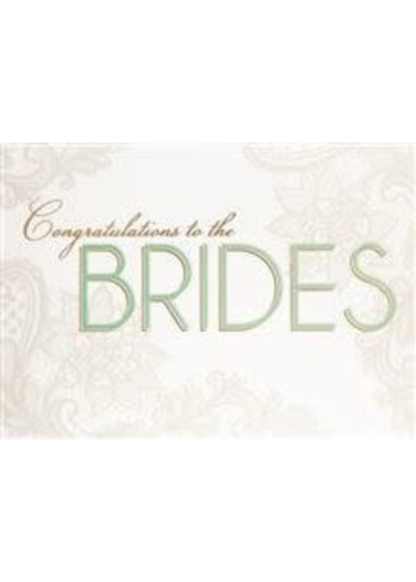 Design Design To The Brides On Floral Card - SameSex