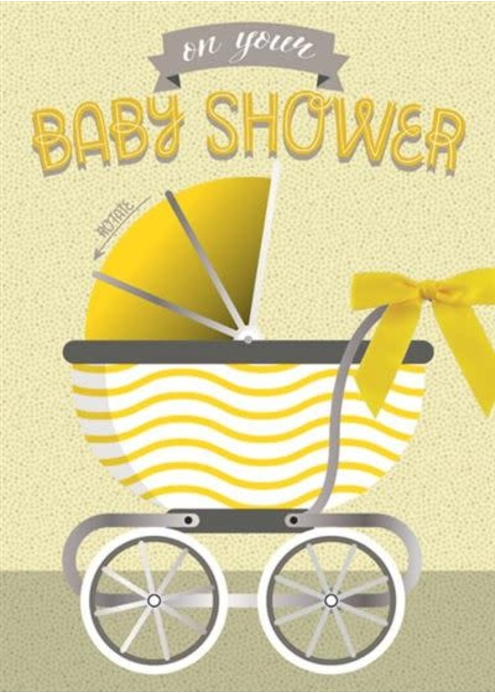 Design Design Baby Buggy With Ribbon Card