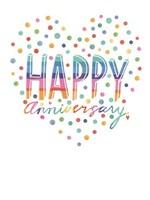 Design Design Dotted Happy Heart Card - Anniversary