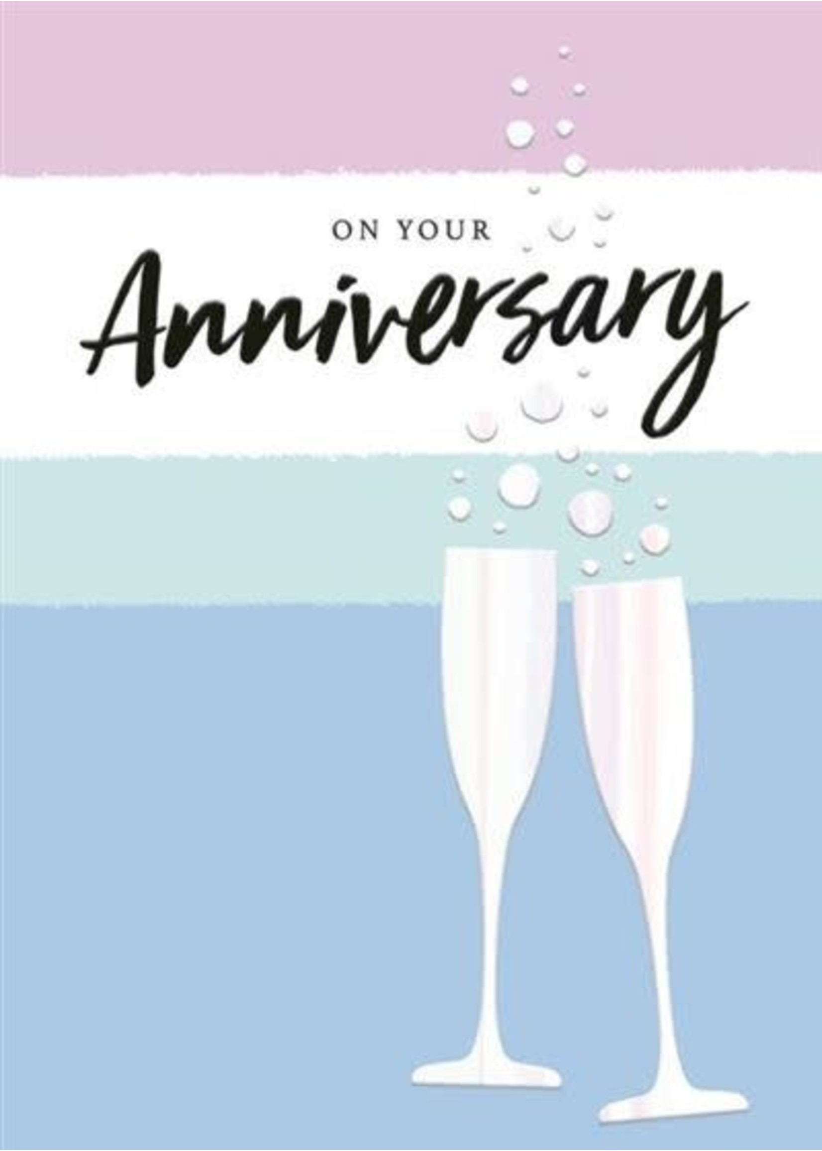 Design Design On Your Anniversary Toast Card