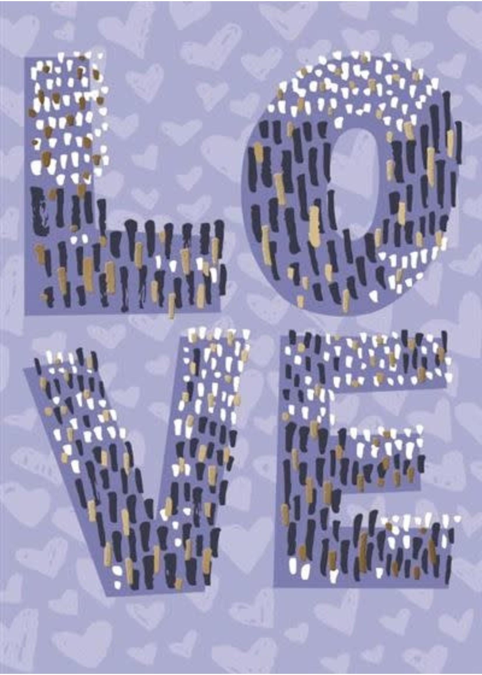 Design Design Purple Love Letters Card - Anniversary