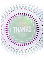 Design Design Big Thanks In Circular Pattern Card
