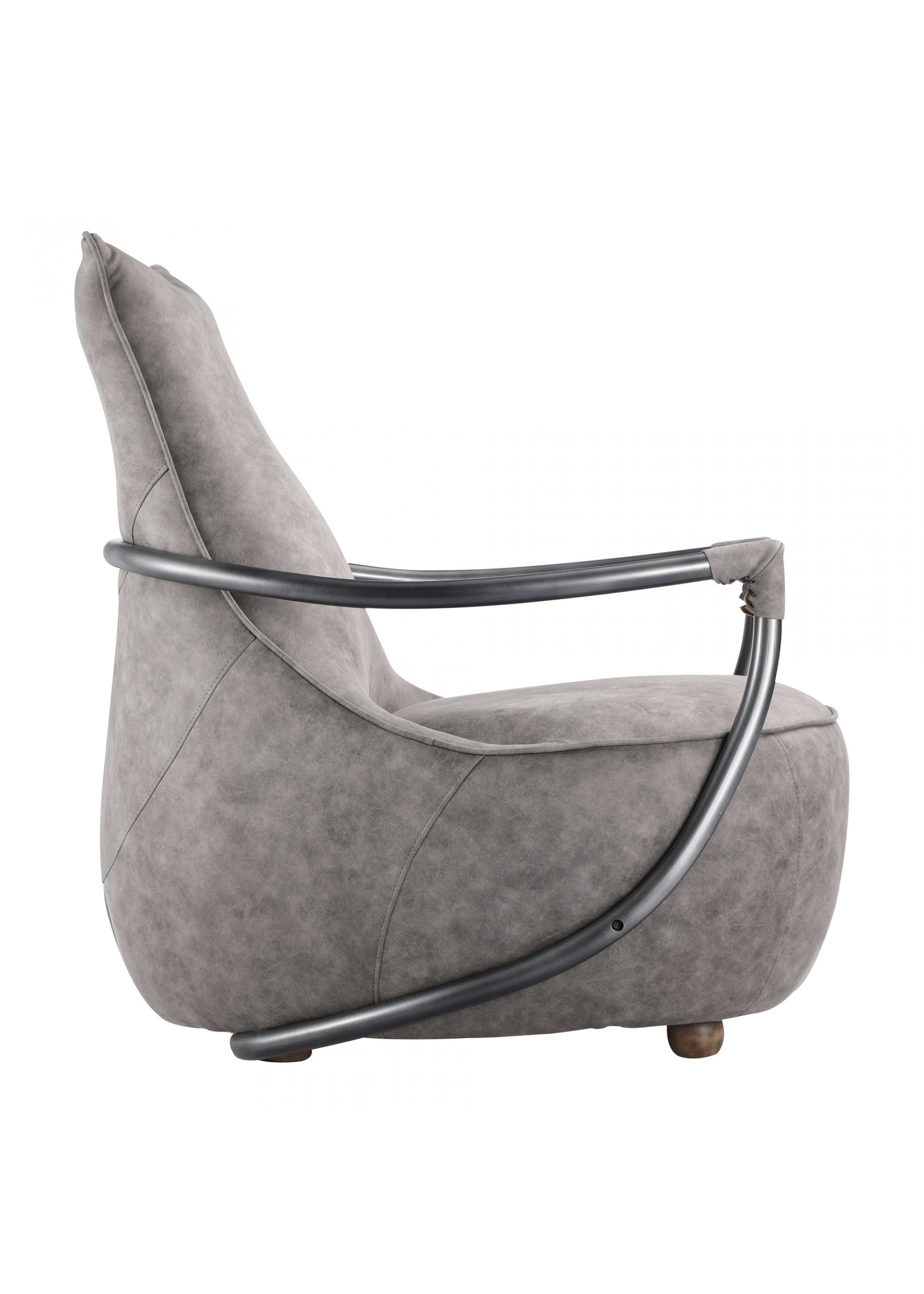 Moes Home Collection Carlisle Club Chair Grey Velvet by MOES