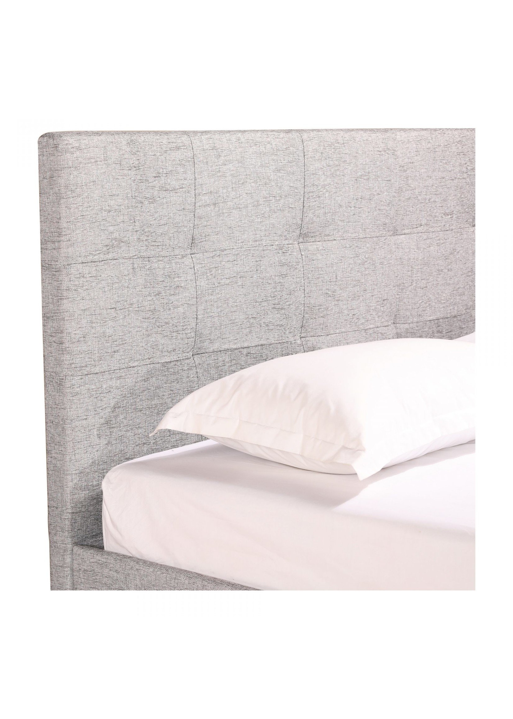 Moes Home Collection Eliza Queen Bed Light Grey by MOES