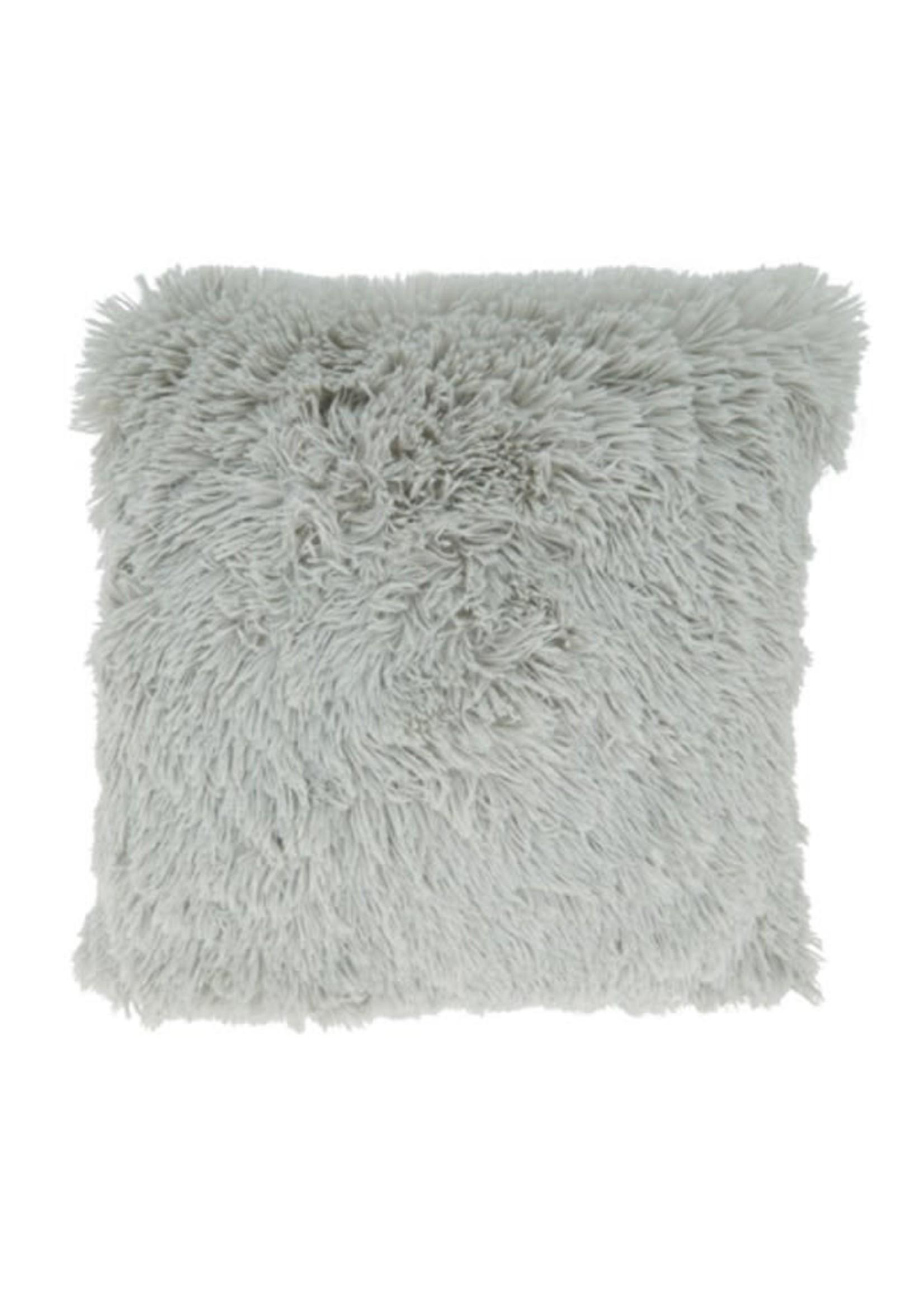 Saro SARO Classic Faux Fur Pillow Fog