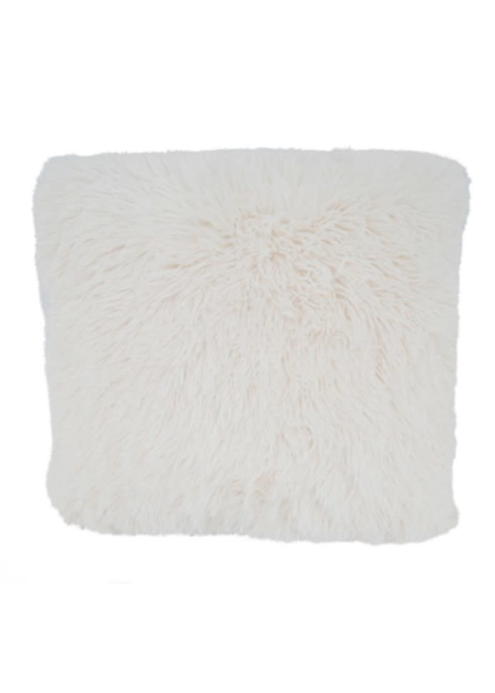 Saro SARO Classic Faux Fur Pillow Ivory