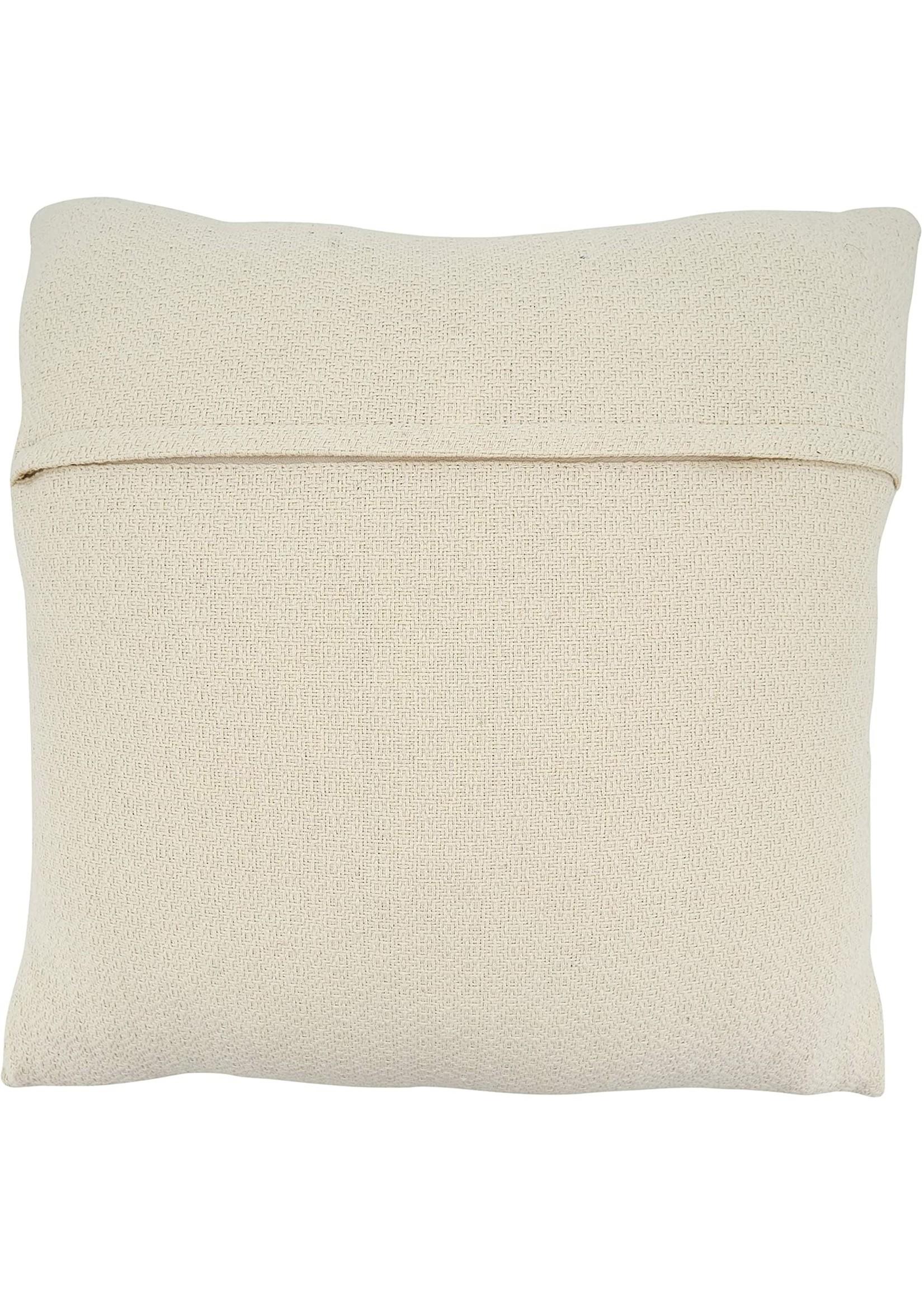 Saro SARO Mudcloth Pillow Black White