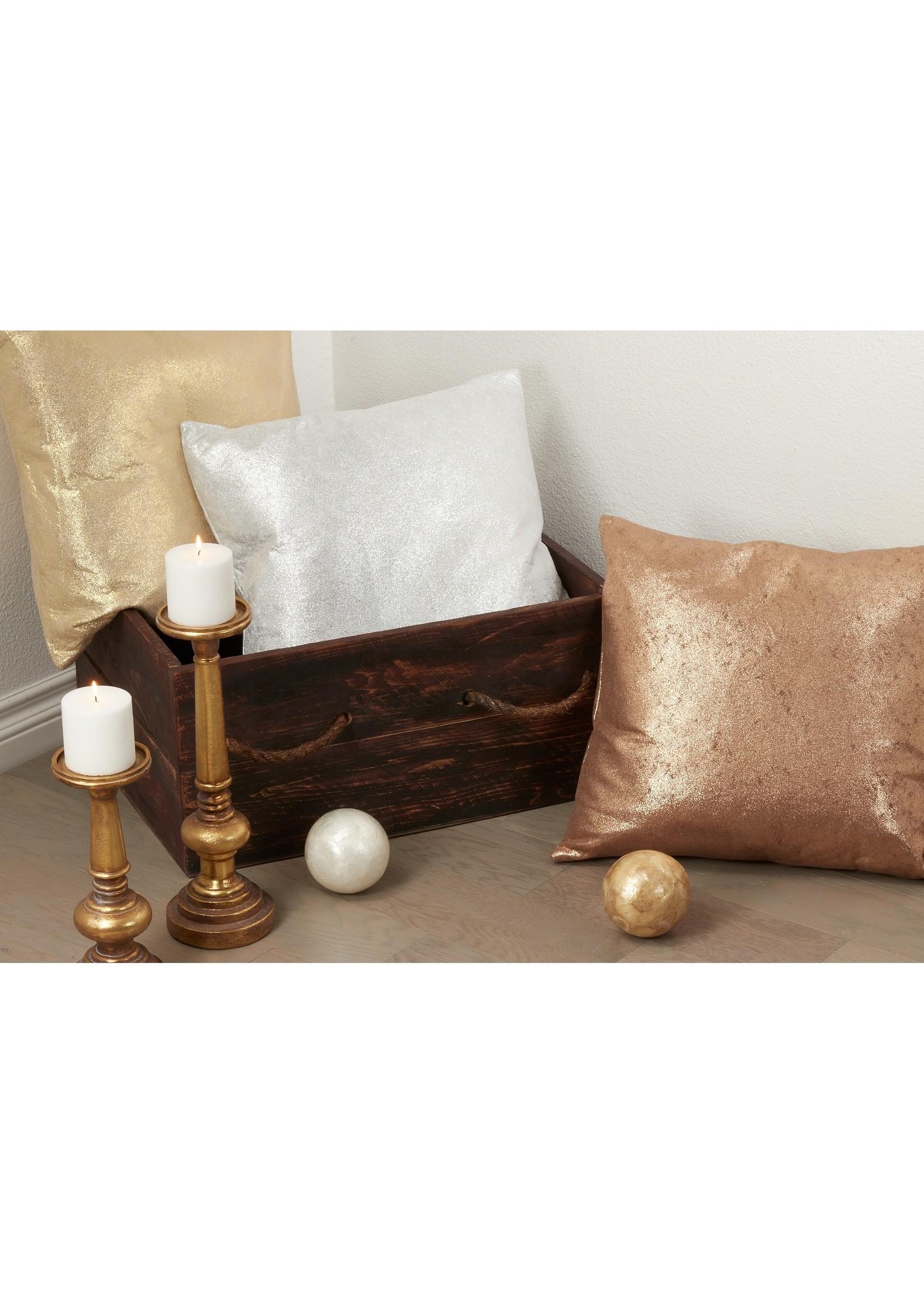 Saro SARO Shimmering Pillow - Silver