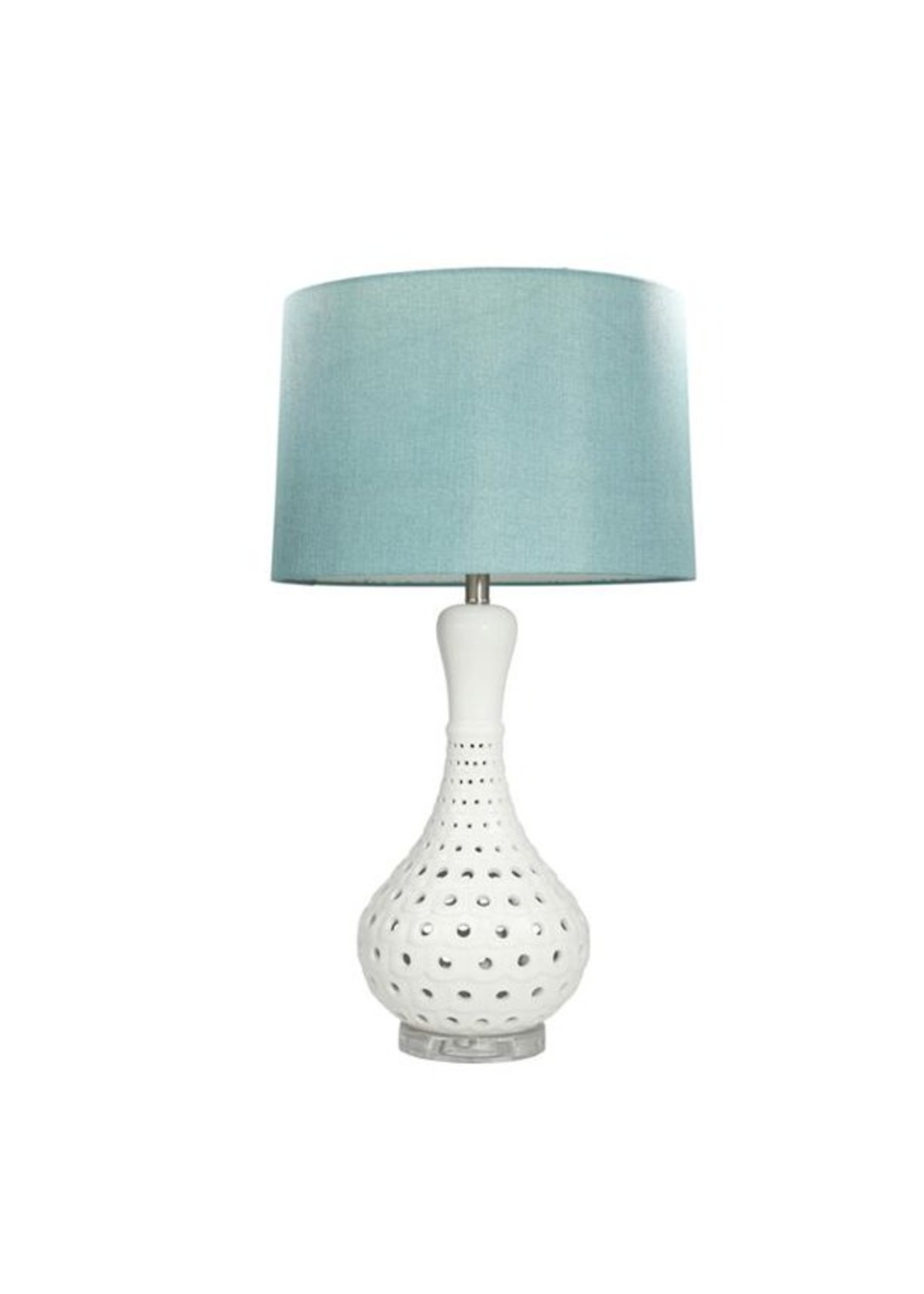 "Sagebrook Home SBH 31"" Ceramic Pierced Bottle Table Lamp White"