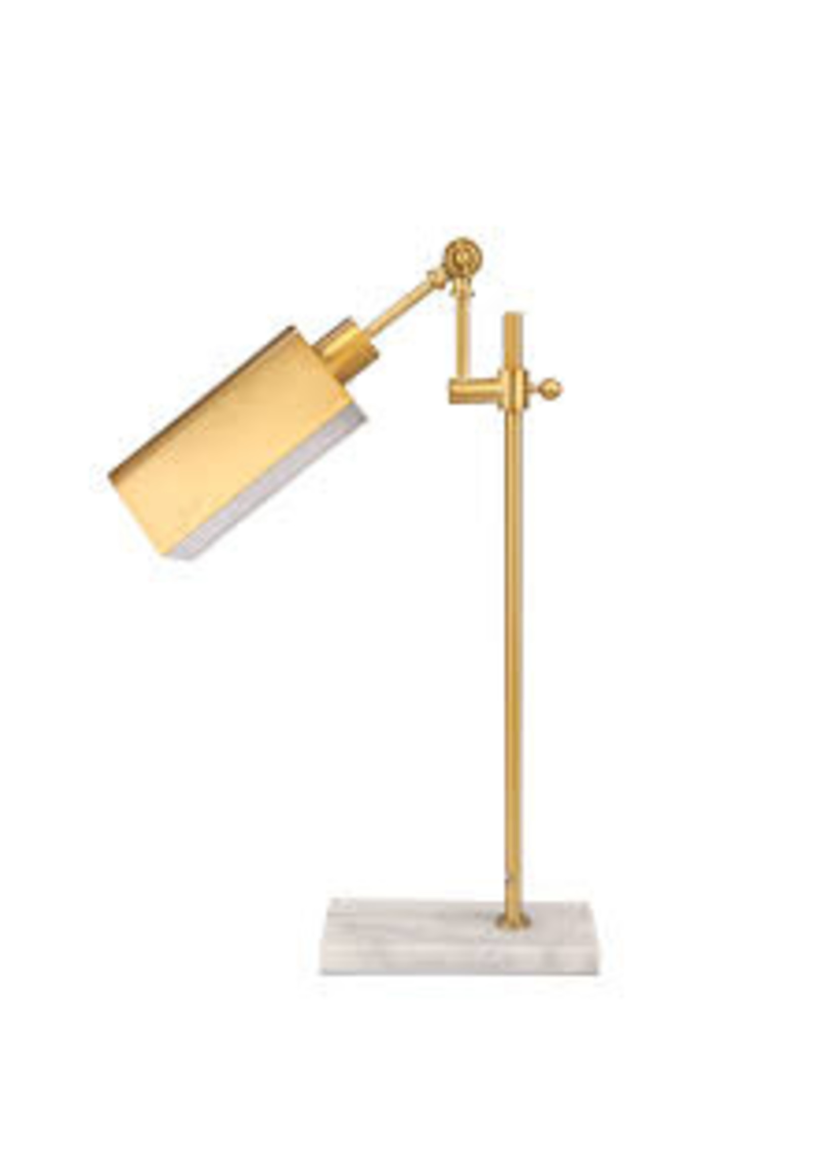 Sagebrook Home Metal Desk Lamp w/Marble Base Gold
