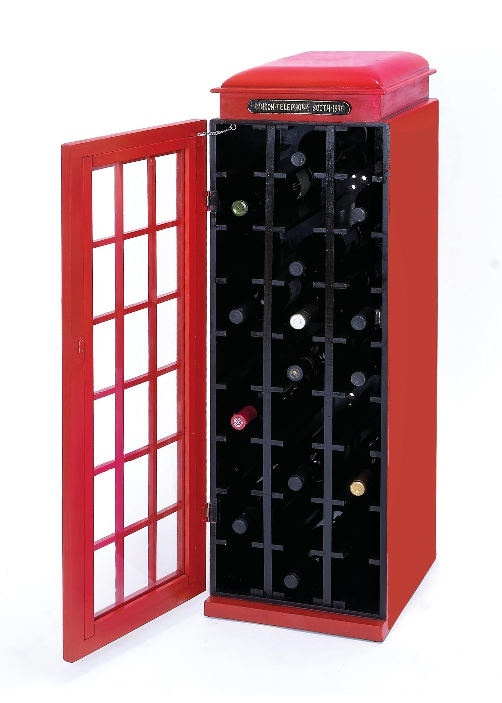 """UMA Enterprises Wood """"Phone booth"""" Wine Cabinet"""