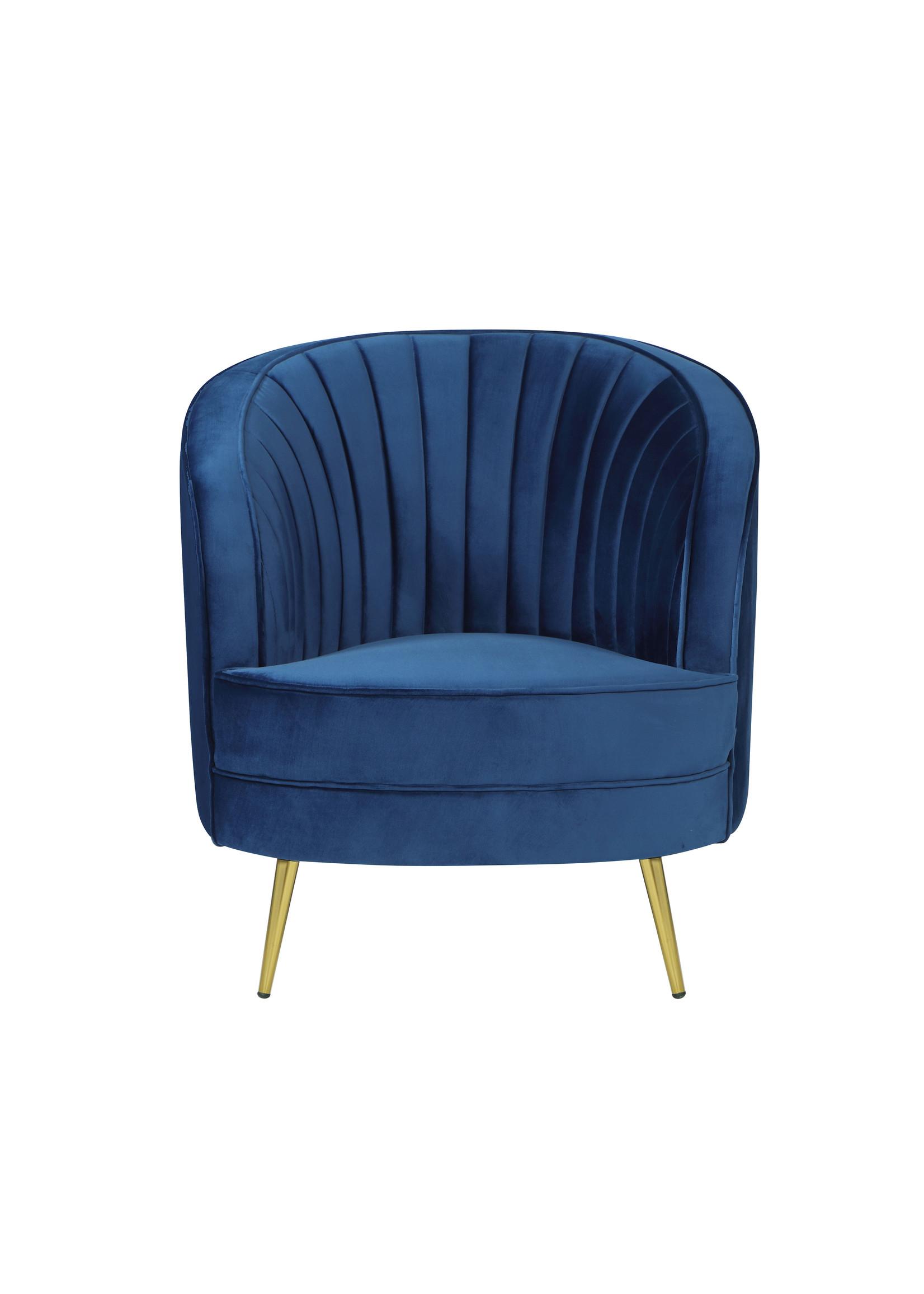 Coaster Furniture Sophia Chair Blue Velvet by Coaster