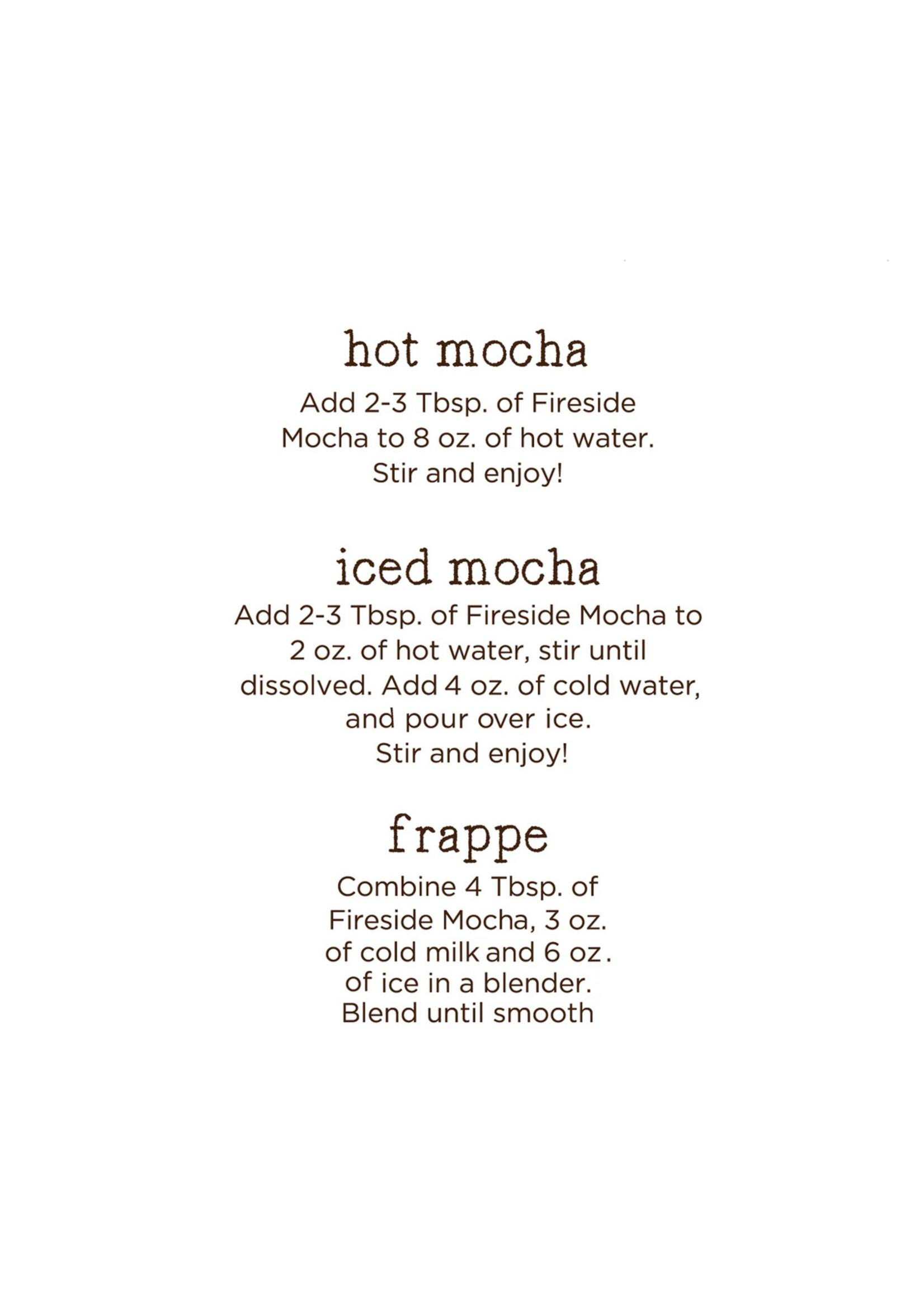 Fireside Coffee Cafe Mocha Salted Carmel Cocoa