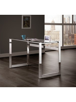 Coaster Furniture Office Desk Chrome Glass by COASTER
