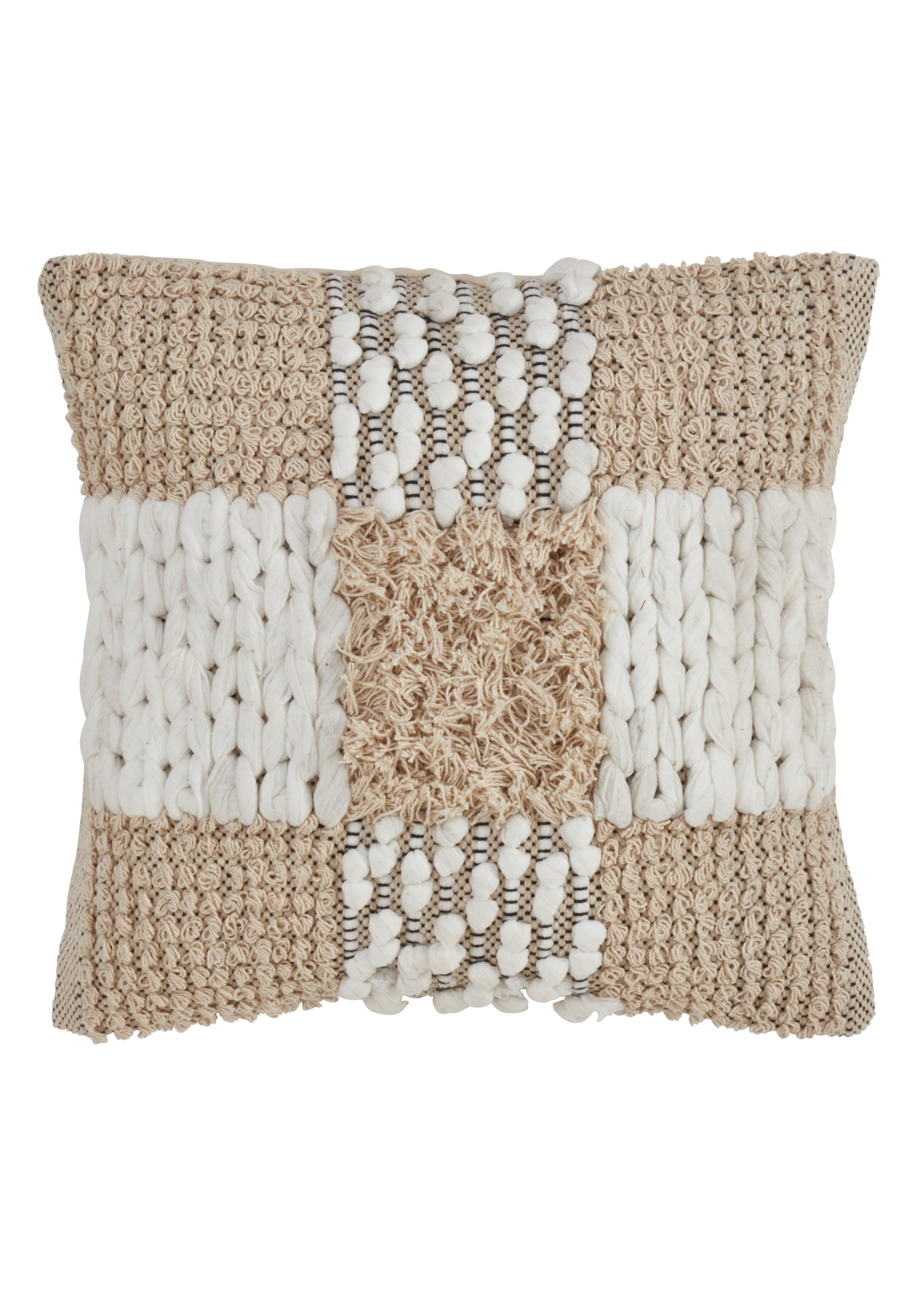 Saro Moroccan Pillow Down Filled Natural