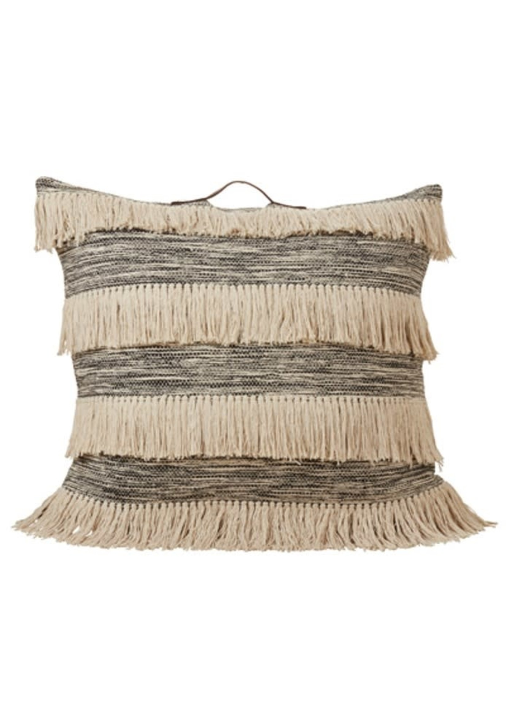 Saro SARO Tassel Floor Pillow Poly Filled - Black