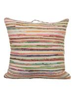 Saro SARO Chindi Floor Pillow Poly Filled - Multi