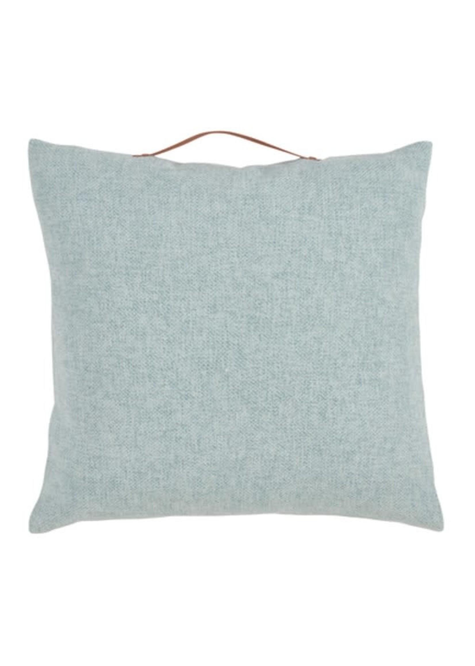 Saro SARO Chenille Pillow w/Handle Poly Filled - Aqua
