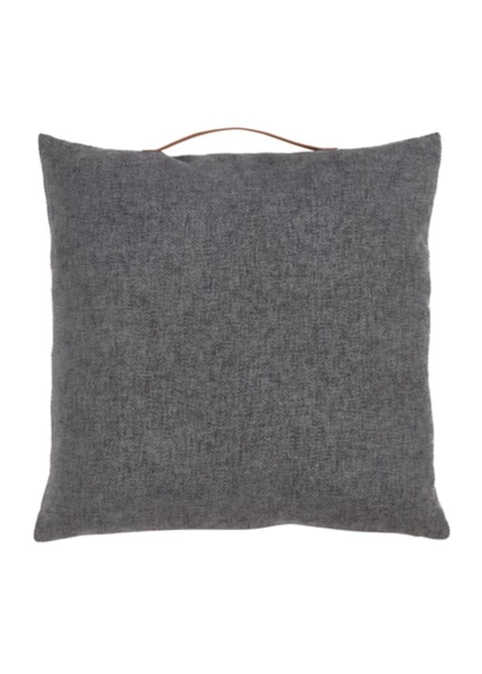 Saro SARO Chenile Pillow w/Handle Poly Filled-  Slate